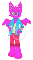 [UTAU] Betsuon Pinku Full Body (watermark) by GiraffeyKun