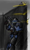 Talon Basic Soldier ActionShot by Rhunyc