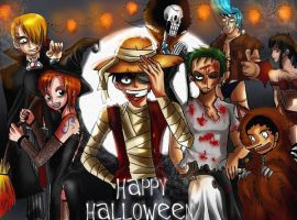 Mugiwara's Halloween by WeirdAlchemist