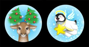 Christmas Buttons by Birvan