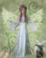 Macha Celtic Goddess by pixievamp