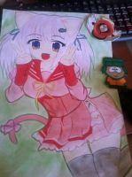 Anime draw by YamiNeka