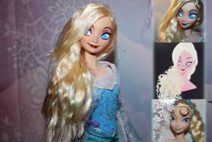 Disney Mattel Elsa Repaint by claude-on-the-road