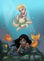 Underwater Fwends by metal-ostrich