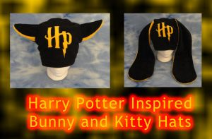 Harry Potter Kitty Bunny Hats by HatcoreHats