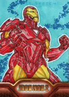 Iron Man 2 sketchcards 4 by SpiderGuile
