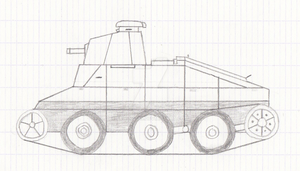 6 Ton Tank M1917 with Christie suspension by Erwin0859