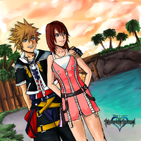 Kingdom Hearts: A walk on the beach by Transientfox
