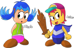 New Ebbrian OCs: Micole and Dalter by JuacoProductionsArts