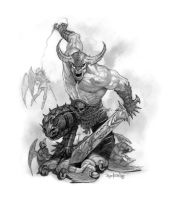 Giant Warrior Demon by namesjames