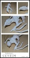 Skyrim Dragon Sculpture wip by CaimRyo