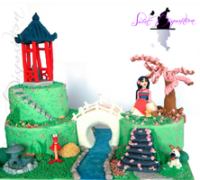 Mulan Cake by sweetdisposition14