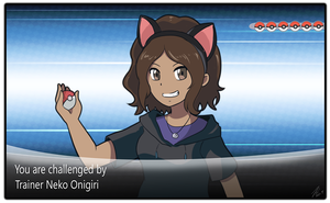 Pkmn Trainer Neko Onigiri wants to battle by Neko-Onigiri