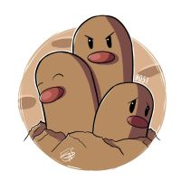051 - Dugtrio by steven-andrew