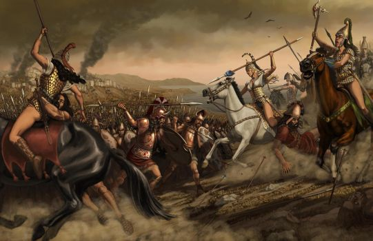Last charge of the Amazons by zpapageo