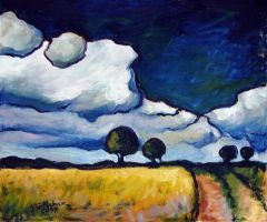 Landscape near Walsrode (Rising Thunderstorm) by Art-deWhill