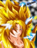 Goku SSJ God (My version) by Majingokuable