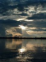 Sunset on the Amazon by thousandtrees