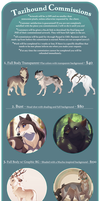 Commissions: Opening in May by Tazihound