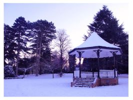 Wintery Bandstand by princessmoony