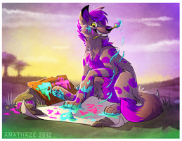 Canines make great artists by Amathaze