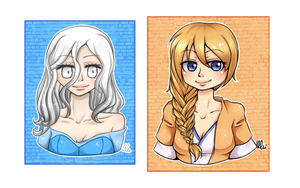 Headshot set 2- Astanine and Hopeandligh4everas1 by TheULTImateAngel