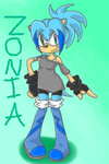 Zonia the Hedgehog by sleuthingLicorice