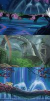 Avatar background speedpaints by Gashu-Monsata