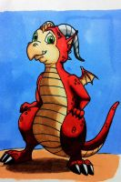 Pepper the Dragon - Markers by Mazdi