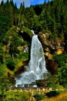 Steindalsfossen by ThoughtMemory