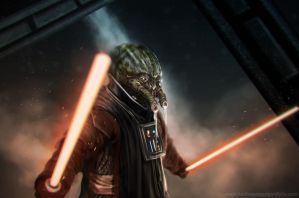 Darth Yucky Face (Sketch) by KeithSeymour