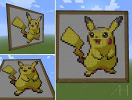 Minecraft Pikachu by Tail-Fin