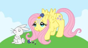 Happy Easter Fluttershy by SurlyQueen