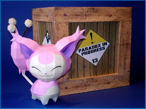 Schrodingers Skitty Papercraft by Skele-kitty