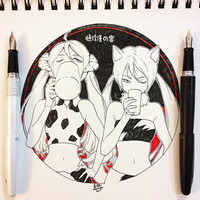 Inktober #1: Tonchikan no En by Aka-Shiro