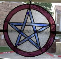 Stained Glass Pentacle by Falconsong