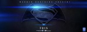 SUPERMAN/BATMAN 2015 Logo poster baner by Sumitsjc