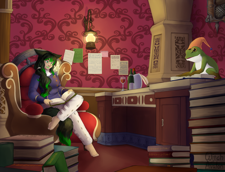 Commission - The Study by Myra-Avalon