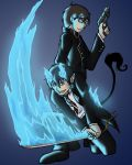 Blue Excorcist by dragonsong12