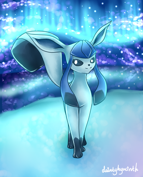 Pokemon: Glaceon by DaintyHyacinth