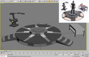 Iron man 3 Gantry Stand with Dummy and Table by suraj281191