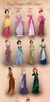 Disney Princesses in 1910s Fashion by Basak Tinli by BasakTinli