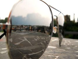 My town in my glasses :) by Melliska