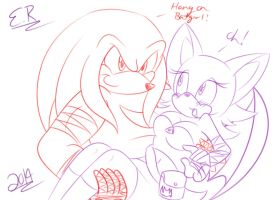 KnuXouge Boom Sketch by Shadow4one