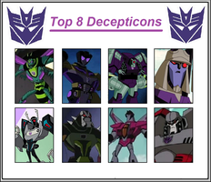 TF Animated - Top 8 Decepticons by Dark-Carioca