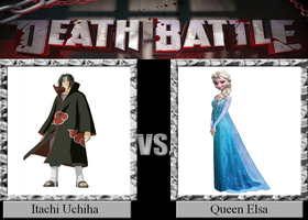 Itachi Uchiha vs. Queen Elsa by JasonPictures