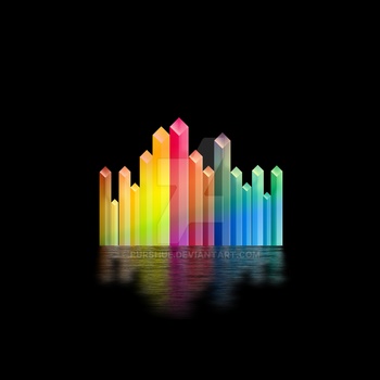 Abstract Geometric City by Purshue