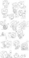 Kitty Mandy Sketches by TMan5636
