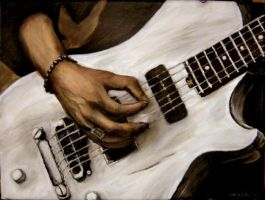 Matt Bellamy's hand by Sabine-K