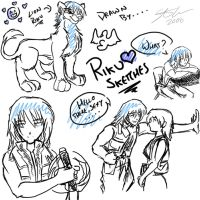 G: Riku Sketches by MyFantasiWorld